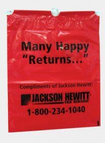 Jackson Hewitt Custom Printed Plastic Bags