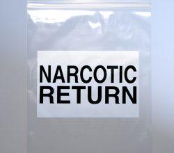 Narcotic Return Bag