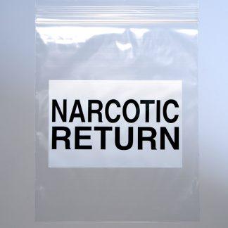 2.0 Mil Narcotic Return Bag