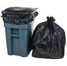 High Density- Black Trash Bag